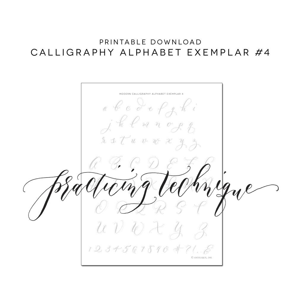 Fullsize Of Modern Calligraphy Practice Sheets
