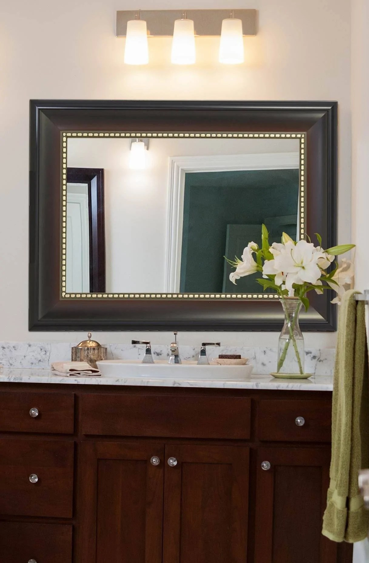 Wide Transitional Framed Mirror 30