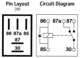 12 volt 5 pin relay bedradings schema