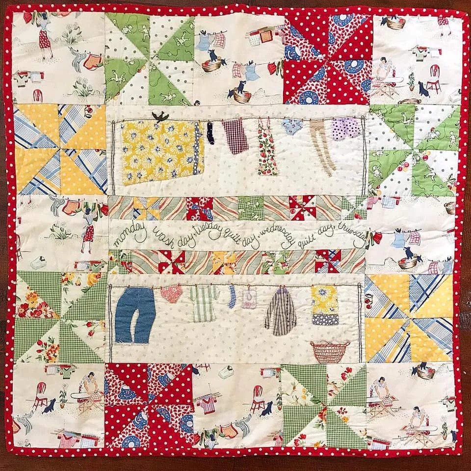 Pinterest Christmas Quilted Wall Hangings Windy Wash Day Wall Hanging Sew Along Pattern And Videos
