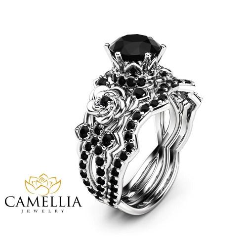 Medium Crop Of Black Diamond Engagement Rings