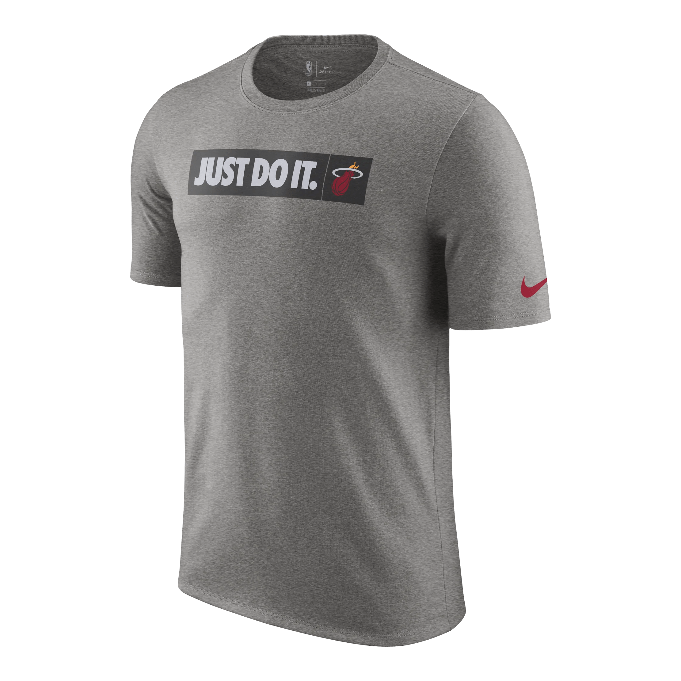 Nike Do Nike Miami Heat Youth Just Do It Grey Tee