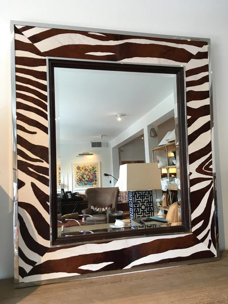 Beveled Mirror Wood Frame Ralph Lauren Home Randolph Mirror Zebra – Simon 39;s House
