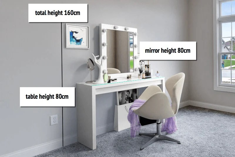 Best Dressing Tables Including White Mirrored Small