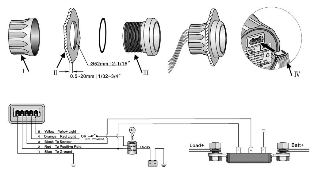 standard red 4 gauge wiring kit