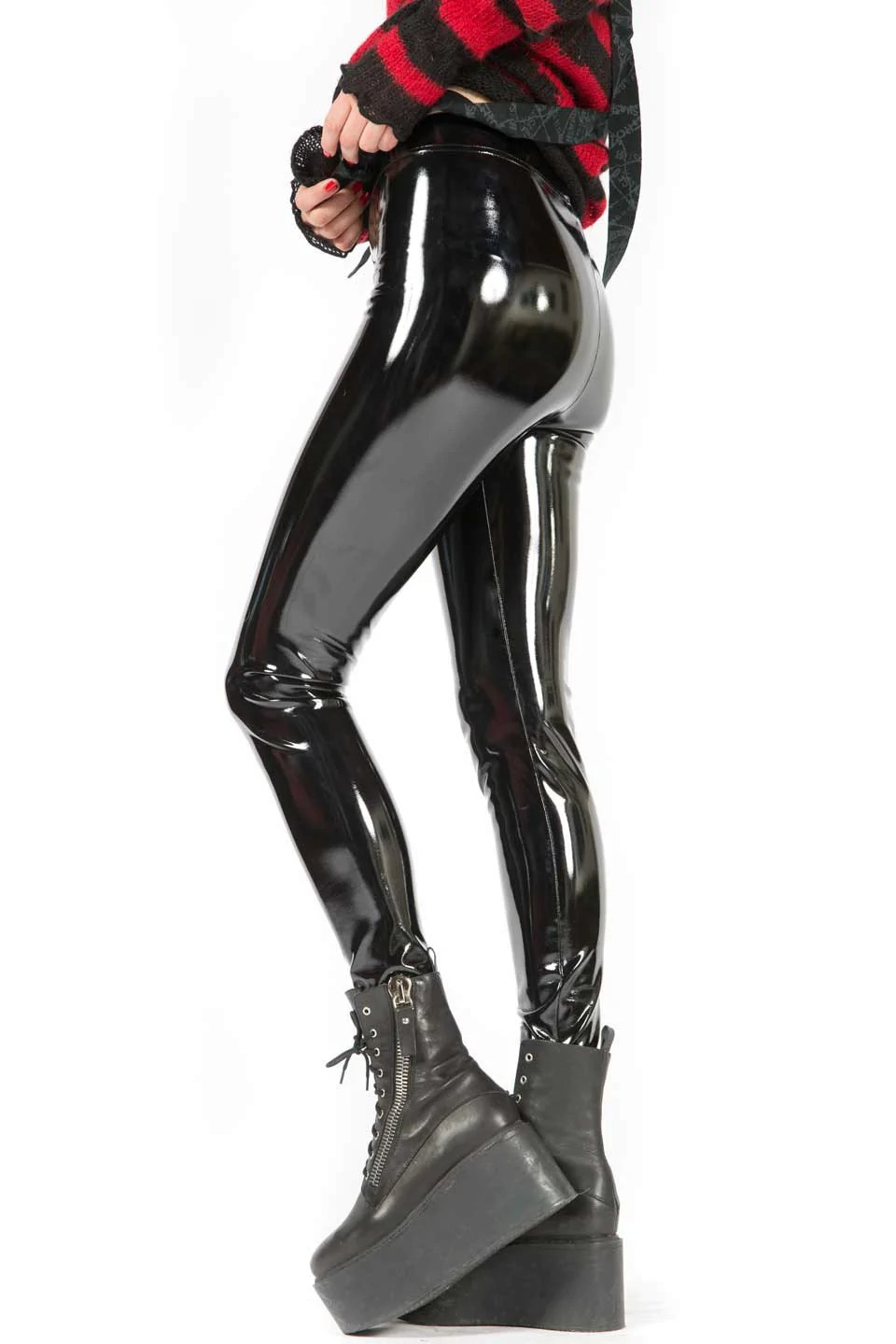 Vinyle Pvc 4 Way Stretch Pvc Leggings