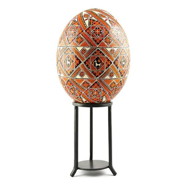 45quot Tall Wrought Iron Large Egg Or Sphere Stand Display