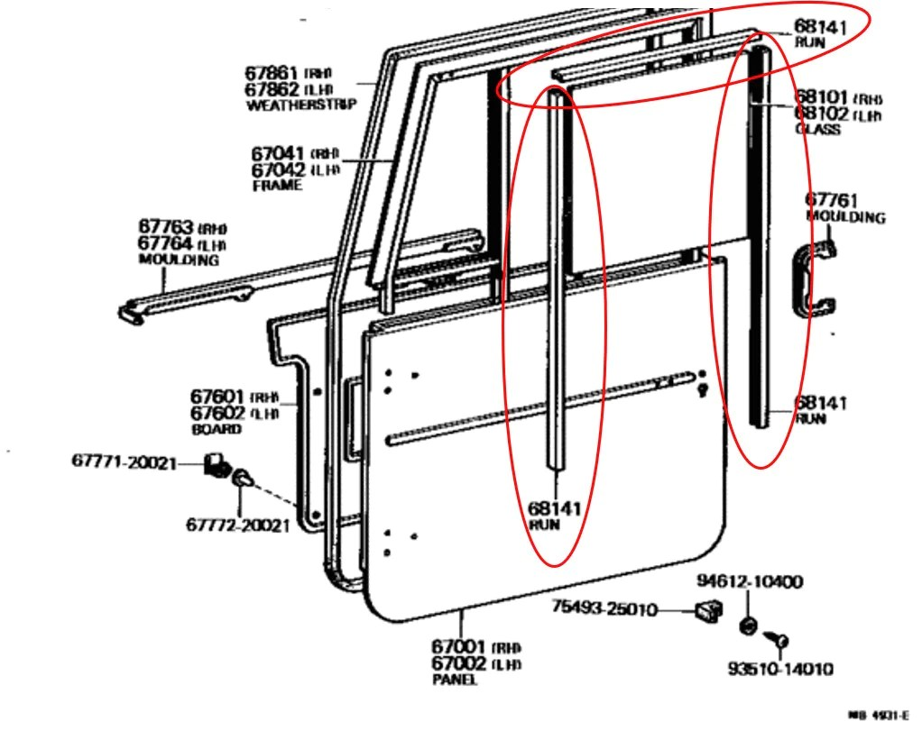 ford expedition door rubber bumper