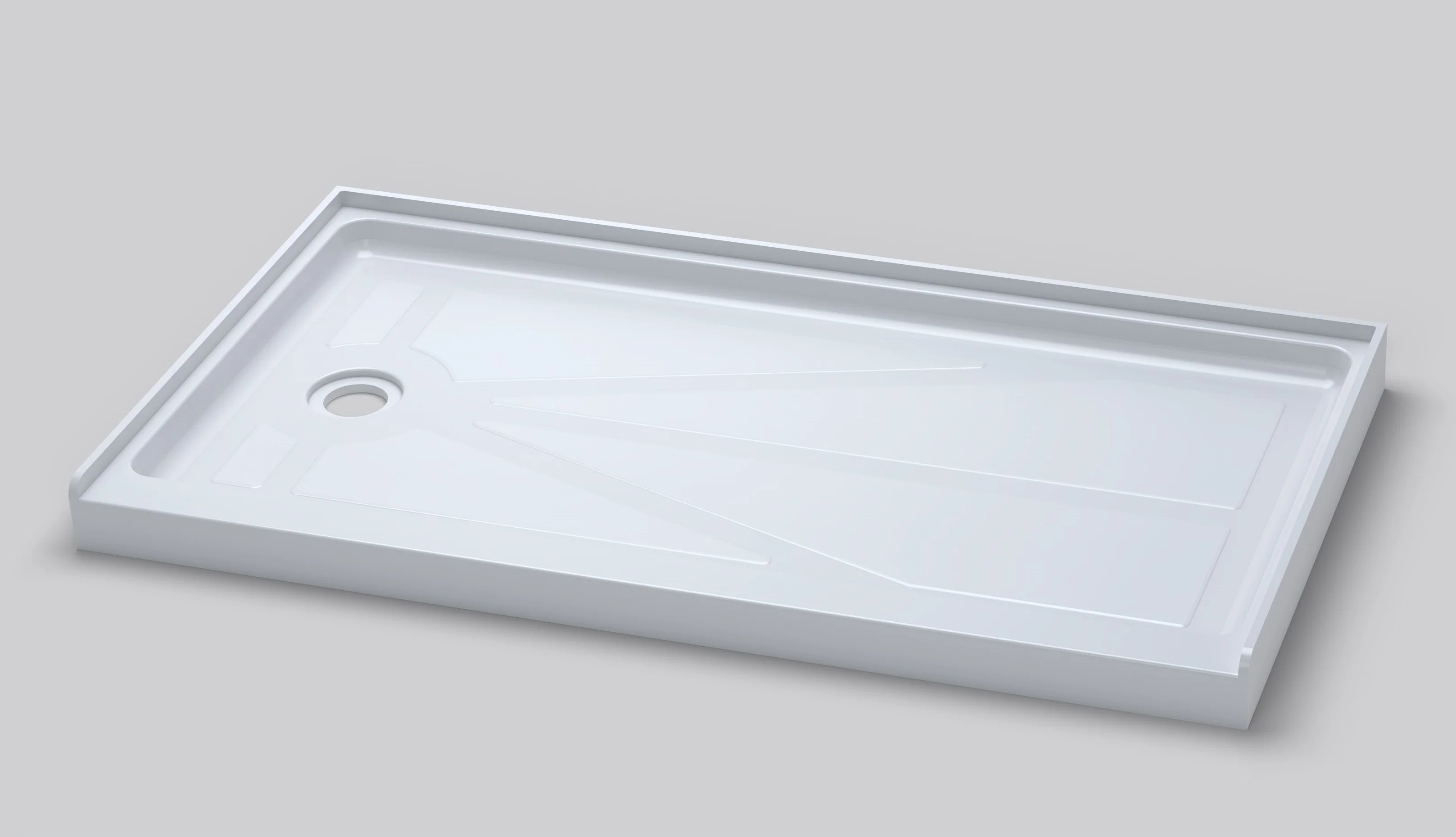 60 By 32 Shower Base 60 Quot X 32 Quot Low Profile Acrylic Shower Base Broadway Vanities