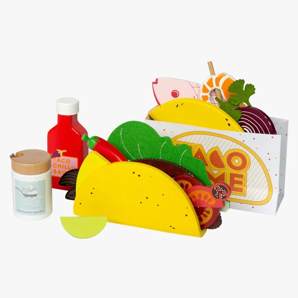 Australian Gifts And Souvenirs Wood Toy Taco Wooden Food