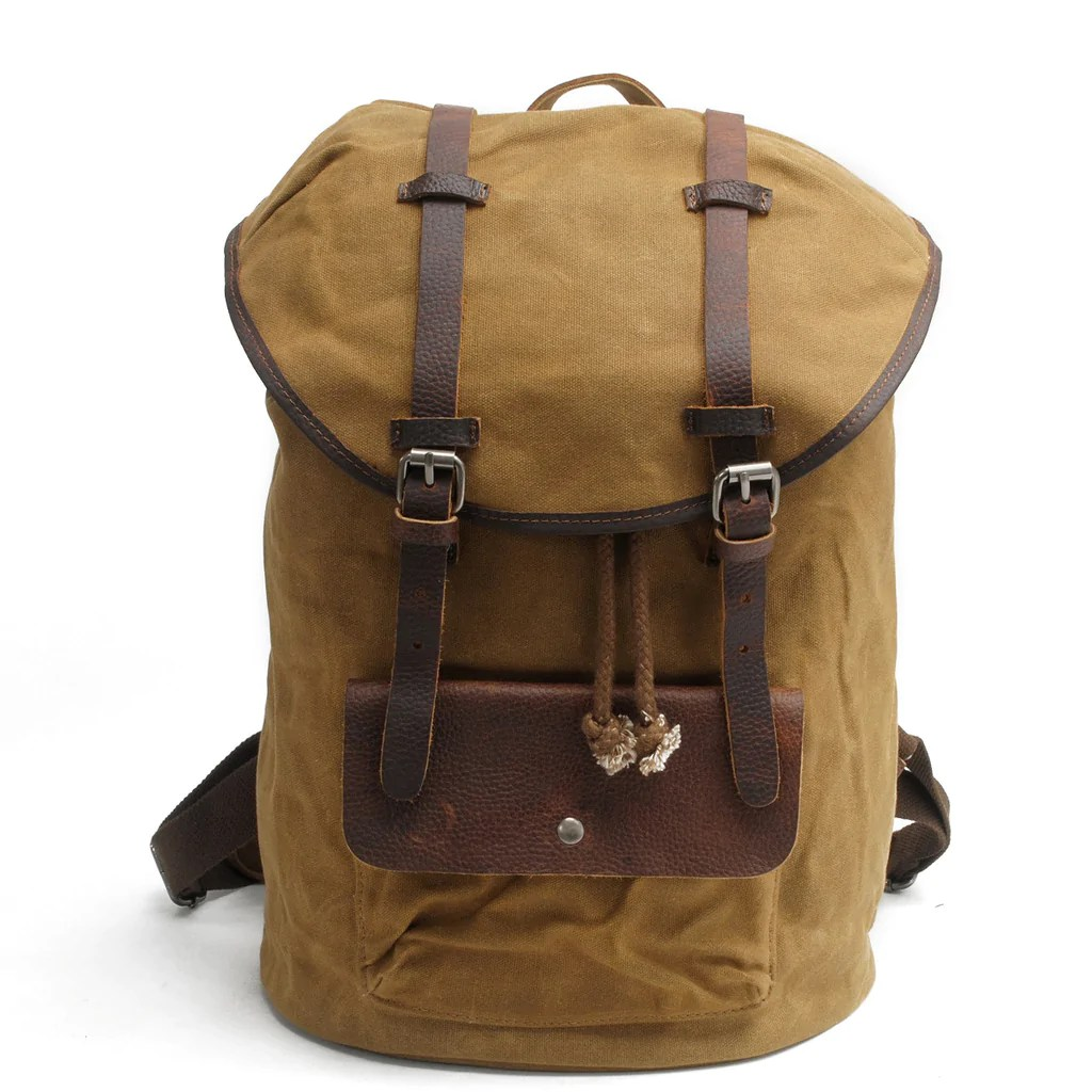Travel Rucksack Vintage Canvas Travel Rucksack Handmade School Bag College Bag Af27