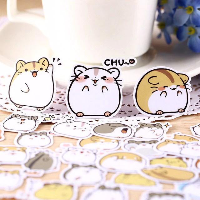 Cute Girly Life Wallpaper 40 Pcs Kawaii Japanese Hamster Stickers Kawaii Pen Shop
