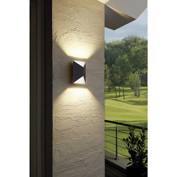 Mosaic Pendant Light Eglo 93994 | Predazzo Led Outdoor Anthracite White Up Down