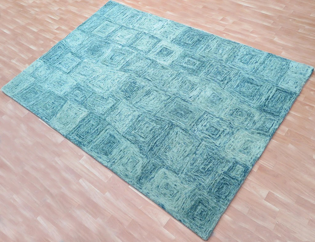 Teal Color Area Rugs 5x8 Ft Teal Blue Woolen Hand Tufted Wool Carpet Area Rug Bedroom Family Living Dining Room Rugs