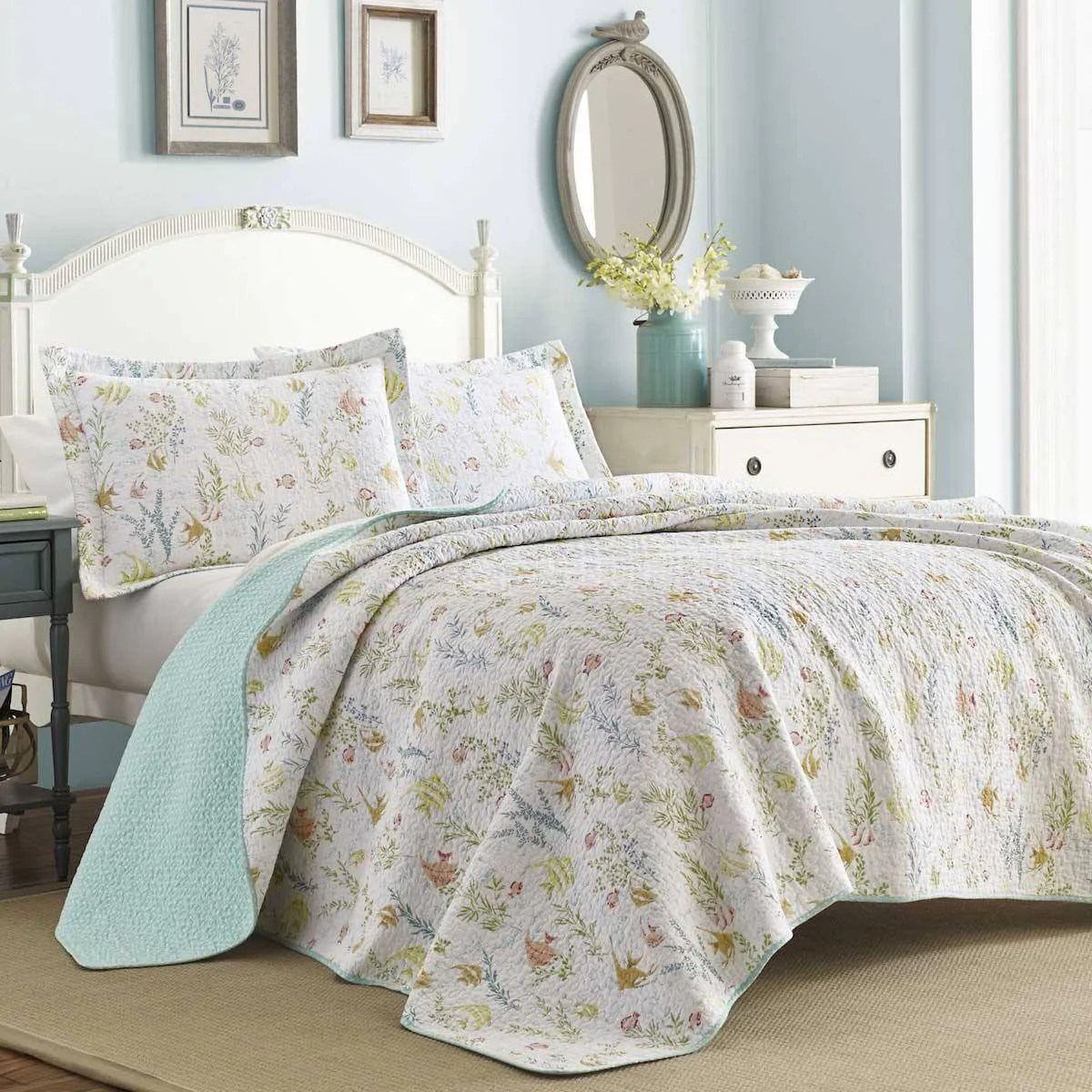 Quilt Sets Laura Ashley Fish Frolic Underwater Garden Quilt Set
