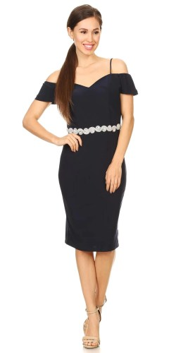Stylish Celavie C Shoulder Knee Length Cocktail Dress Navy Celavie Navy C Shoulder Knee Length Cocktail Dress Navy Blue Cocktail Dress Canada Navy Blue Cocktail Dress Philippines