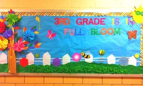 3rd Grade Is In Full Bloom Spring Bulletin Board Idea