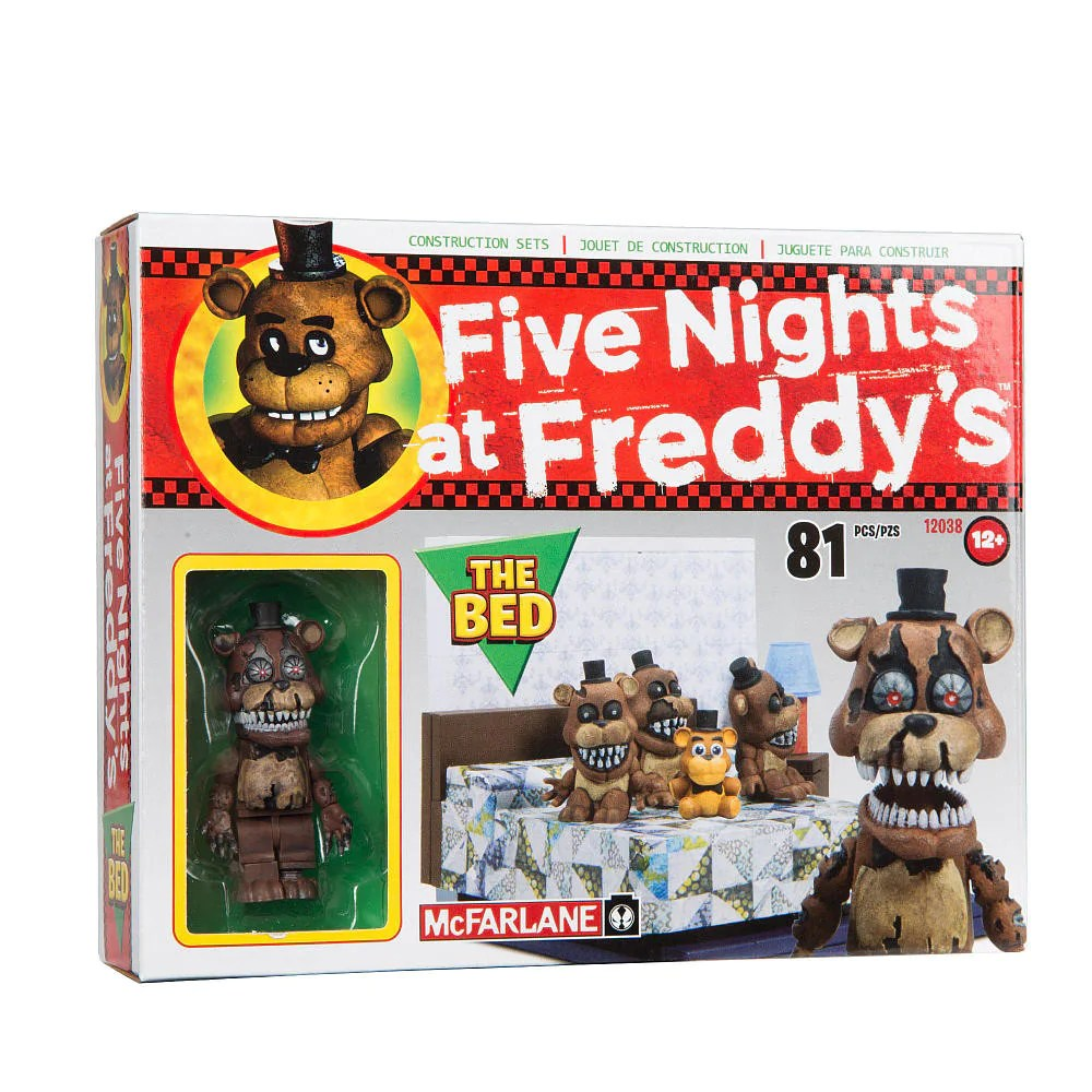 2048 Fnaf Mcfarlane Construction Set Five Nights At Freddy S 4 The Bed
