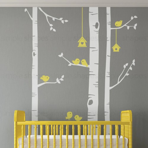 Medium Of Birch Tree Wall Decal