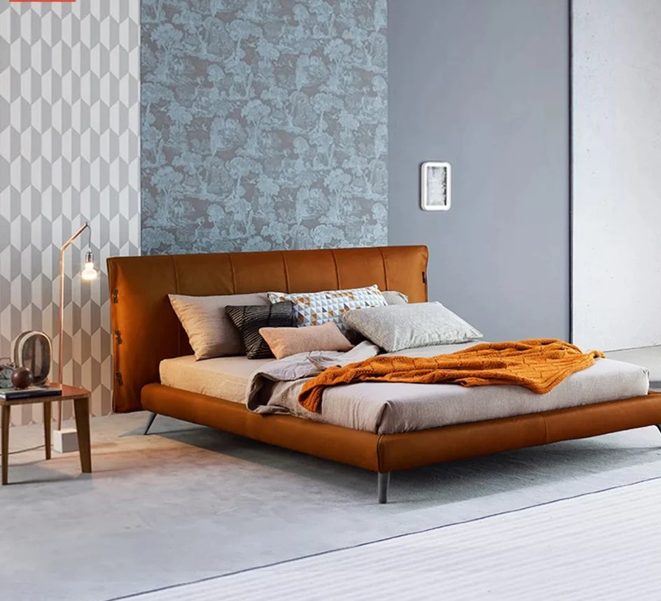Leather Bed Frame Latest Fashionable Italian Leather Bed Frame Designs
