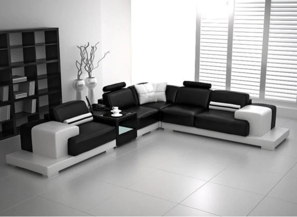 Modern Lounge Luxury Modern Forrey L Leather Sofa Lounge Set