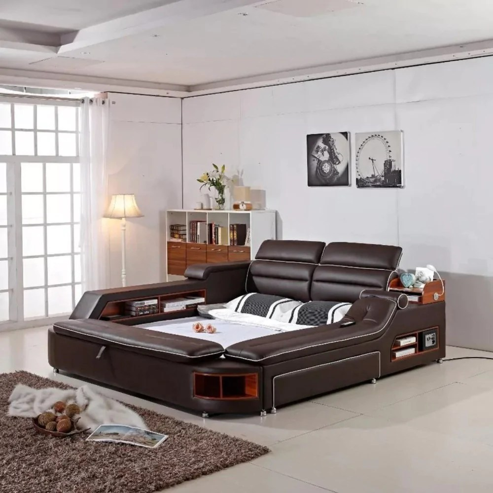 Leather Bed Genuine Leather Bed For Bedroom Furniture