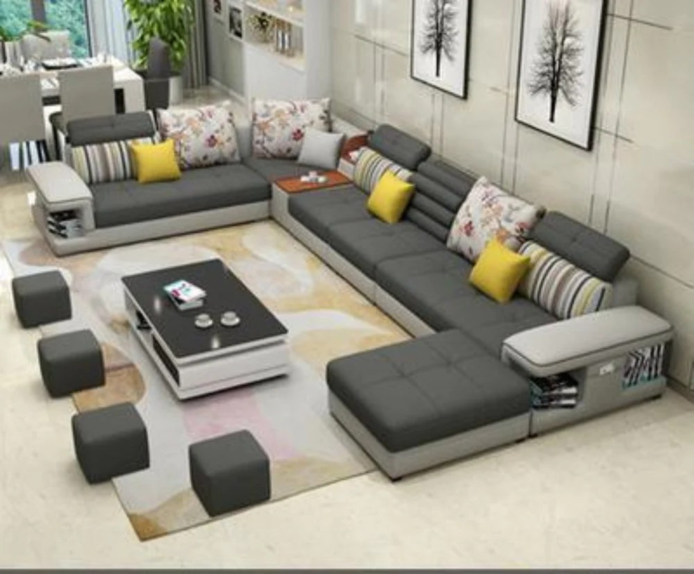 Types Of Sofa For Living Room Modern Luxury U Type Fabric Sofa My Aashis