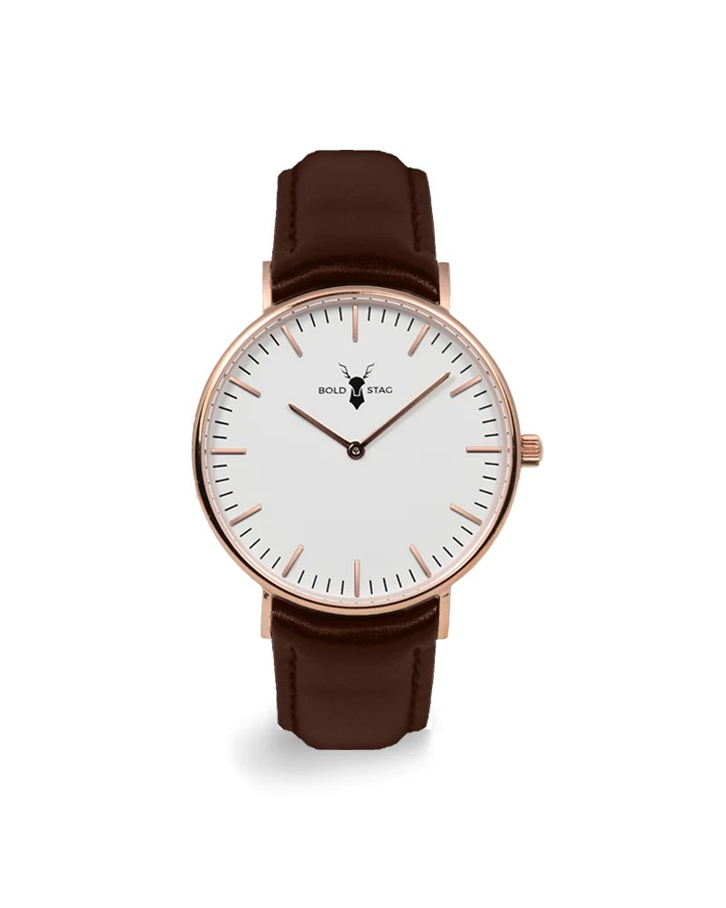 Lederband Für Uhr Rose White Brown Leather