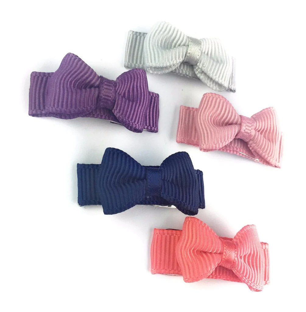 Baby Teller Small Snap Tuxedo Grosgrain Hair Bow Collection Fortune