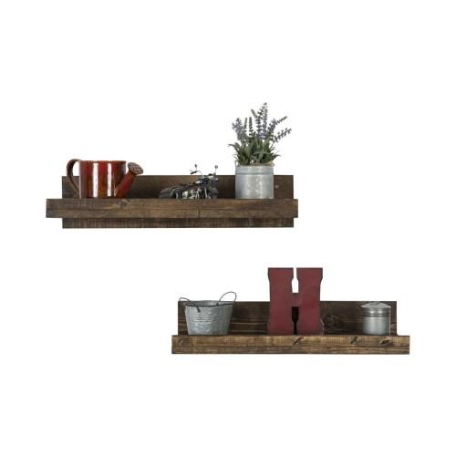 Medium Of Wood Floating Shelves