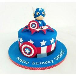 Enchanting Captain American Cake Captain American Cake Giftr Leading Online Gift Shop Captain America Cake Template Captain America Cake Singapore nice food Captain America Cake