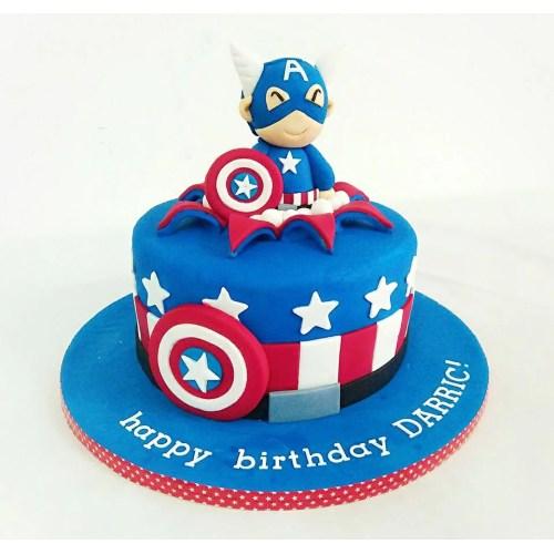 Medium Crop Of Captain America Cake