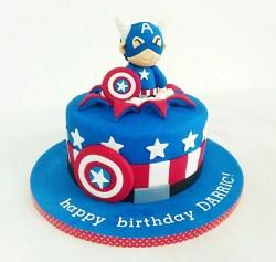 Small Of Captain America Cake