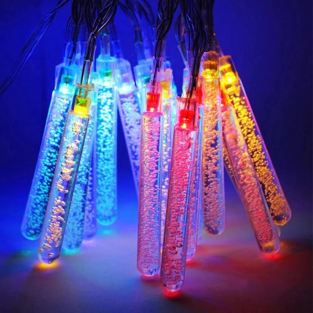Led Shop24 Quirky Test Tube Bubble Led String Lights 2 Meter 20 Tubes Multicolour Pack Of 2