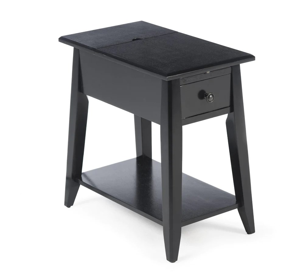 Black End Tables With Drawer Black End Table With Usb Ports And Power Outlets