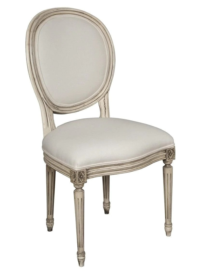 Chaise Style Louis 16 French Louis Xvi Style Chaise Upholstered Chair Fsfi 40
