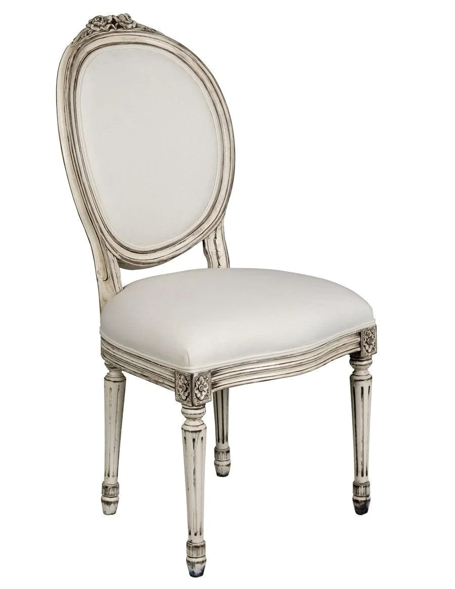 Chaise Style Louis 16 French Louis Xvi Style Chaise Upholstered Chair Fsfi 38