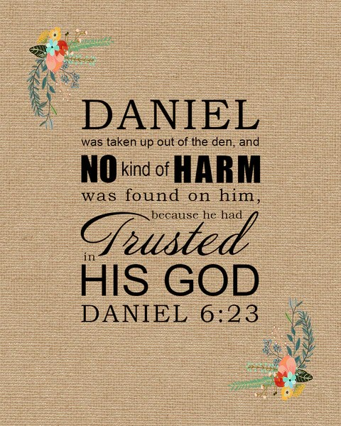 Bible Quotes Wallpaper Download Daniel 6 23 Trusted In His God Free Bible Verse Art