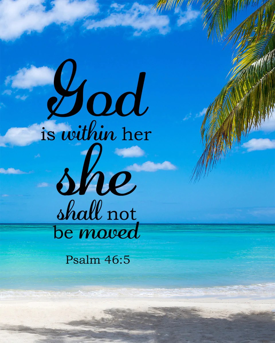 Thankful Wallpaper Quotes Psalm 46 5 God Is Within Her Free Bible Verse Art