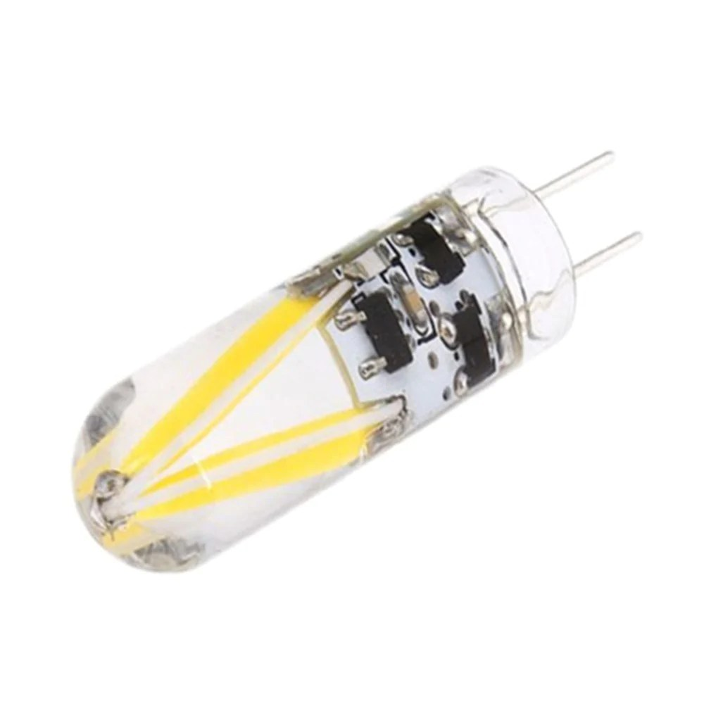 Lamparas Led 3w 10pcs Led G4 3w Filament Cob G4 Glass Bulb 150lumens Ac Dc 12v Lamp Lamparas For Spotlight Chandelier Lights Bombillas Led Bulbs