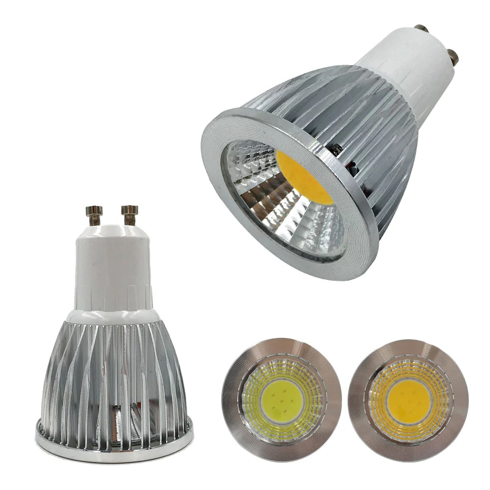 Led Spot Gu10 10pcs 3w 5w Cob Gu10 Led Spotlight Dimmable Gu10 Led Spot Light 110v 220v Gu10 Led Lamp Warm White Indoor Lighting