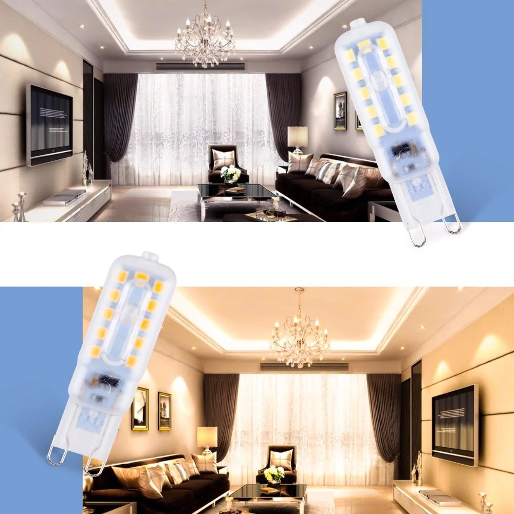 Ampoule Led E10 G9 Led Bulb 220v Led Ampul 14 22leds Corn Bulbs 3w 5w Ampoule Led G9 Candle Lamps High Brightness Lights For Indoor Home