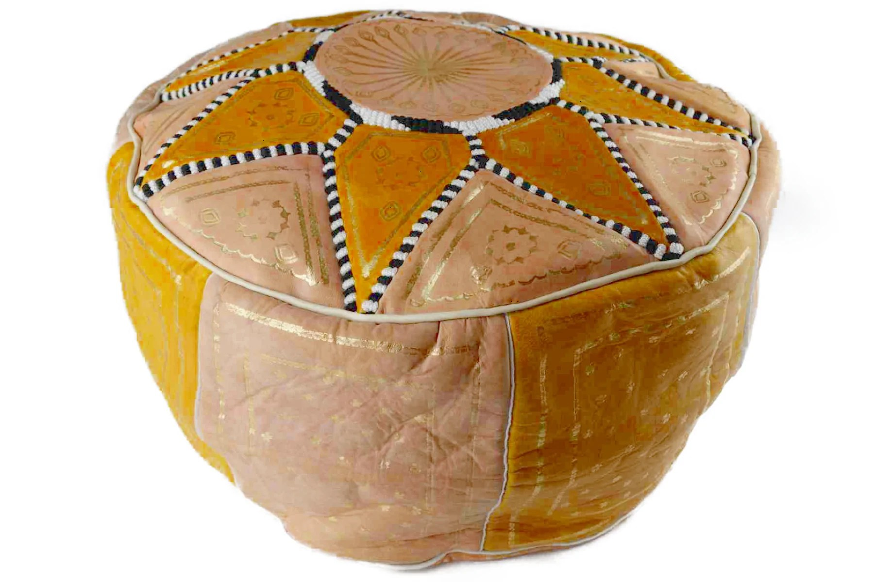 Moroccan Leather Pouf Design Sit Down Pinterest Leather Moroccan Leather Pouffe Al Alamiya Multiple Colors