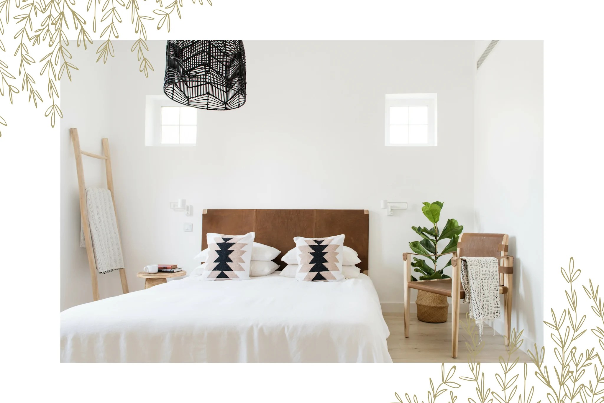 Simple Bed Simple Bedroom Makeover White Moss