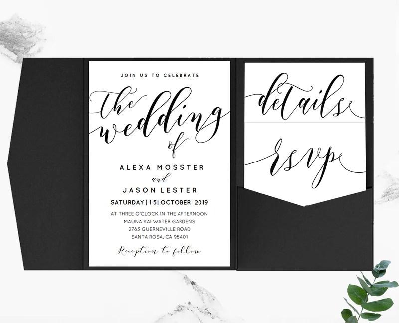 black invitation template - Maggilocustdesign