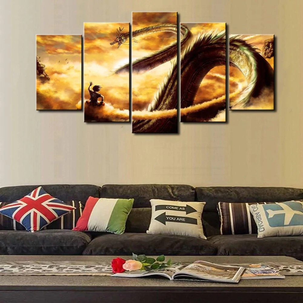 Imagenes Cuadros Dragon Ball Cuadros For Living Room 5 Piece Canvas Painting