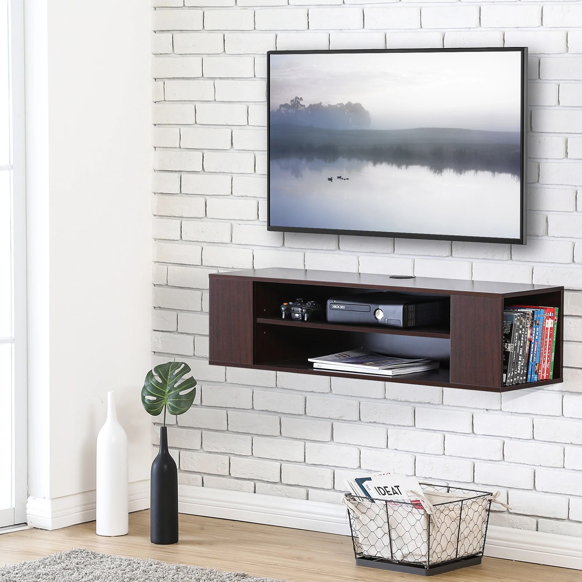 In Wall Media Cabinet Floating Tv Stand Wall Mount Tv Cabinet Media Console Entertainment Center Tv Stand Ds210001wb