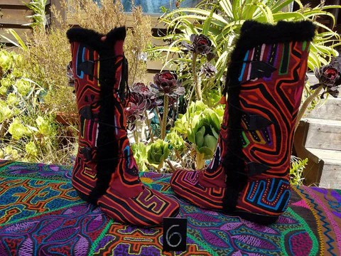 Products Tagged Quotbootsquot Kuna Prints Mola Shoes Gypsy