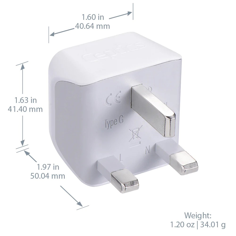 Coles Travel Adaptor Plug Adapters For Uk Hong Kong More Type G Travel Adapters