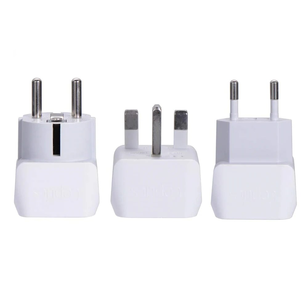 Travel Adapter Eu To Uk European Travel Adapter Set Type E F G C 3pcs Ct Eu Set